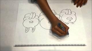 光宗薫さんが「はげたん」とLINEキャラクターのイラストを描いてくれま...