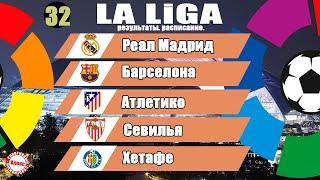 Чемпионат Испании по футболу Ла Лига 32 тур Результаты таблица и расписание