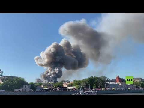 حريق وانفجارات في مستودع للمفرقعات وسط العاصمة الروسية  - نشر قبل 42 دقيقة