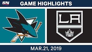 NHL Game Highlights | Sharks vs. Kings - March 21, 2019