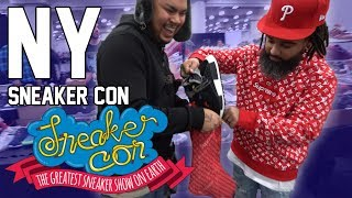 NEW YORK SNEAKERCON BIGGEST SNEAKER SHOW EVER! (19,000 PPL SHOWED UP + SHOPPING IN NY)