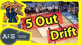 Kentucky Wildcats 5 Out Drift Basketball Play