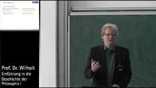 Geschichte der Philosophie (3.1): Von Platon zu Aristoteles, Prof. Dr. Torsten Wilholt