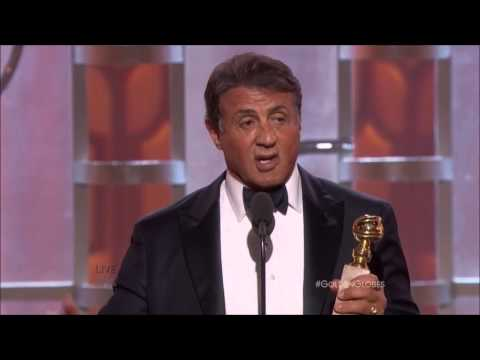 (Extended) Tearful Sylvester Stallone Wins First-Ever Golden Globe for CREED