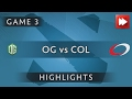OG Dota2 vs compLexity Gaming [Game 3] Elimination Mode 3 - Dota Highlights