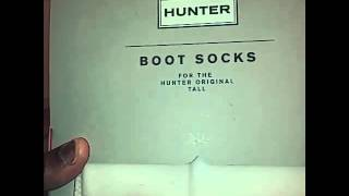 Hunter Welly Fleece Socks Unboxing