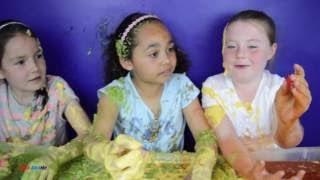 Kids vs Food! Super Gross Challenge Beans Peas Custard   Mashems Fashems Shop   Tiana toy