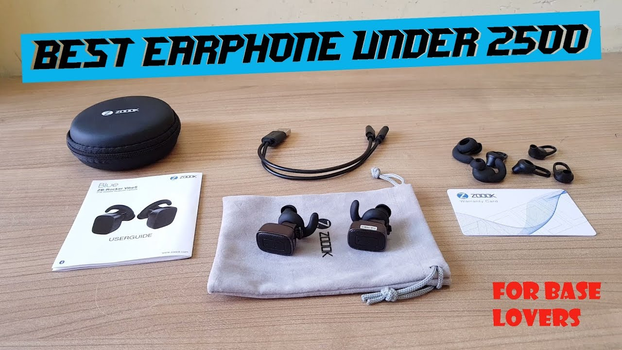 21eb06a4400 Best Bluetooth Earphones/earbuds for 2500 rupees and for everyone [Zoook  rocker vibes]