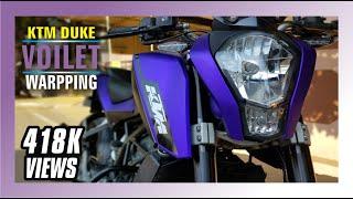 Ktm Duke Full Purple Wrapping Stickers | Ktm Duke Modification in ERODE | #SriramStickers
