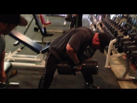 INTENSE Back At Metroflex Gym - Tyler 200LBS DB ROWS!! My New Training Split - Day 4