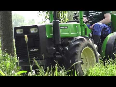 The Four-wheel Drive HOLDER Tractor A50 Working In 2018  - Holder Knicklenker Traktor