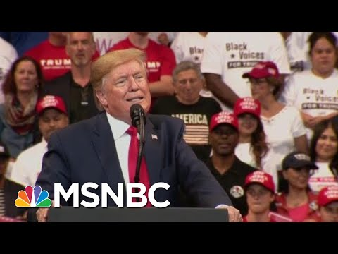 President Donald Trump Lashes Out Against Impeachment At Florida Rally | Velshi & Ruhle | MSNBC