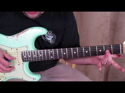 4 Must know SUPER SLOW 12 bar blues guitar tricks & licks