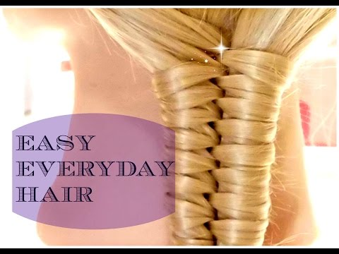 China Stairs Braid Hairstyle - Easy everyday Hair Tutorial - Giveaway ( CLOSED )