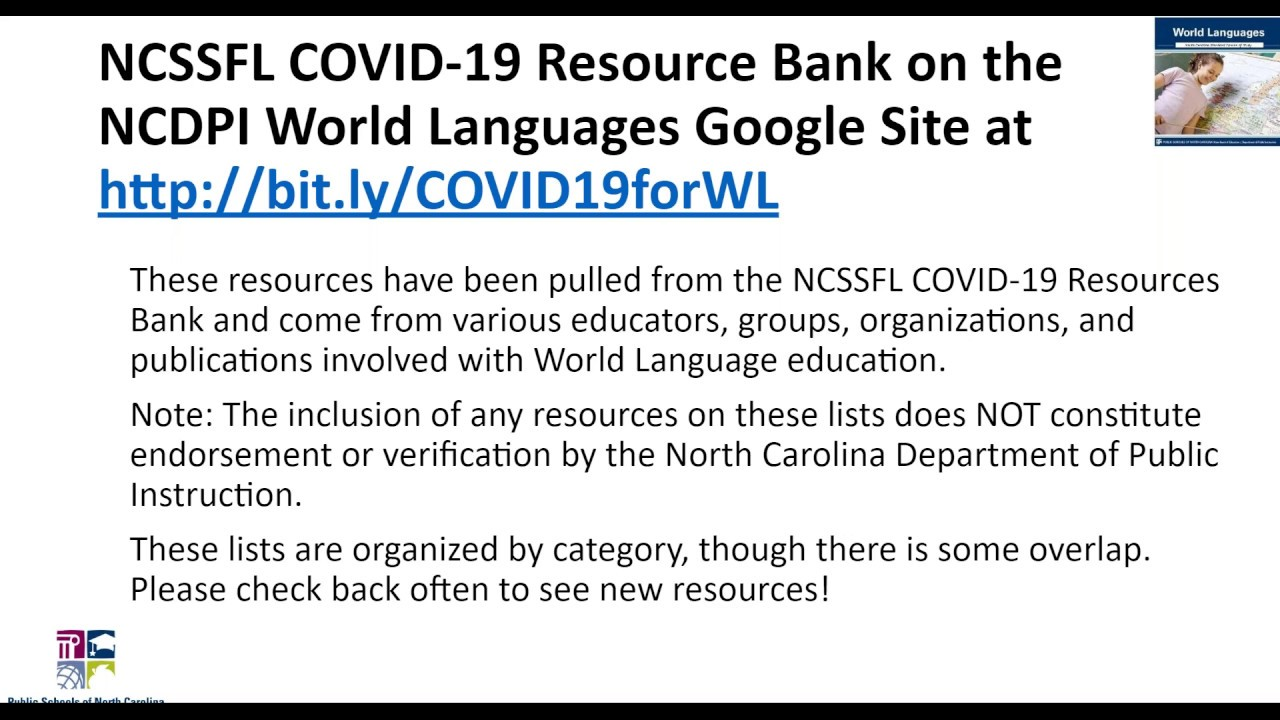 Resources For Teaching World Languages Remotely Youtube