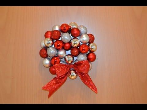C mo hacer una corona de navidad con bolas facilisimo - Como hacer coronas de navidad ...
