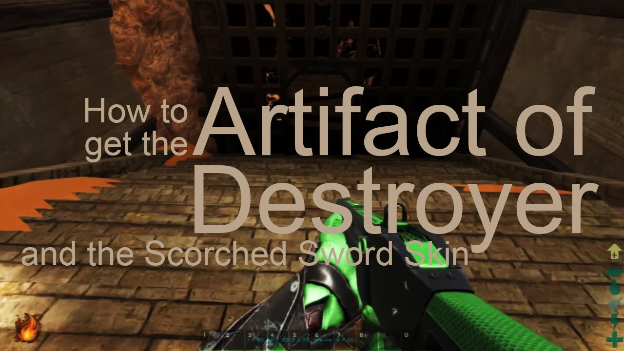 Cave #3: Artifact of Destroyers, Scorched Sword Skin | Ark Scorched Earth