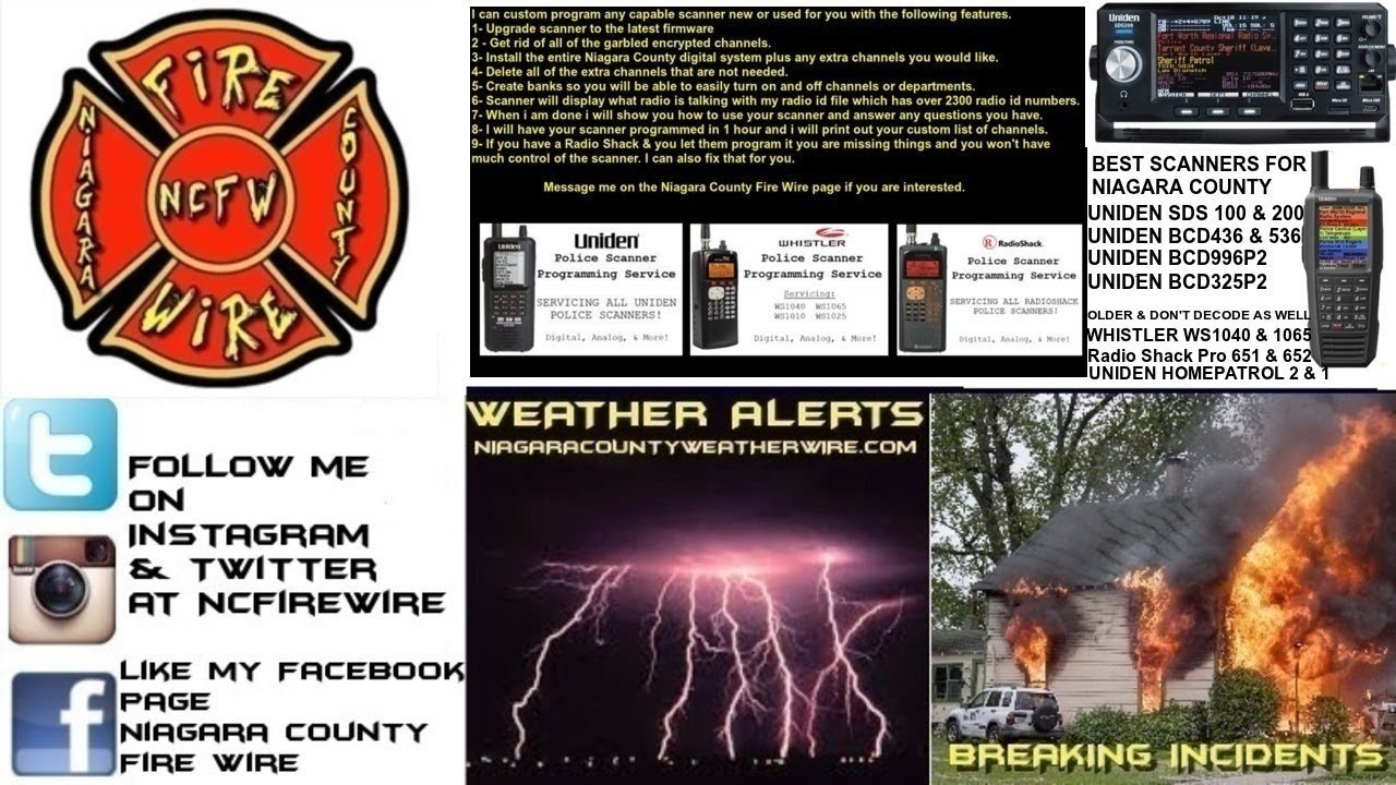 08/30/19 AM Niagara County Fire Wire Live Police & Fire Scanner Stream