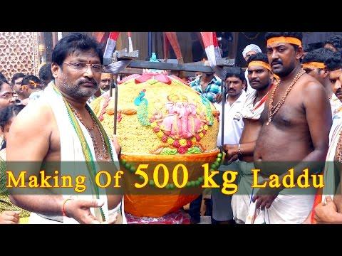 MAKING OF 500 KG'S LADDU (Indian Desserts)| WORLD FAMOUS KHAIRATABAD GANESH 500 KG'S LADDU MAKING