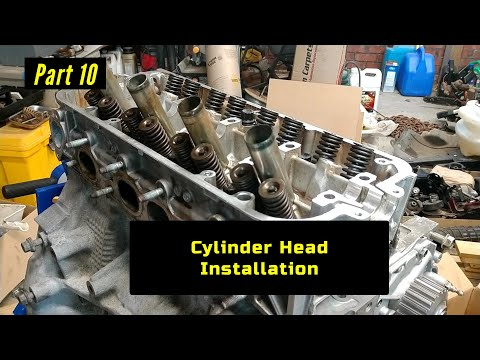 F23 Honda Accord Engine Rebuild Part 10: Cylinder Head Installation