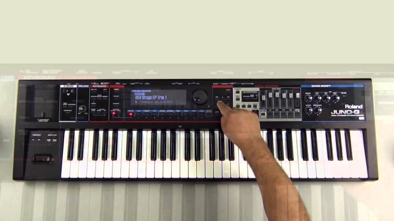 Roland Juno-Gi - How to create Favorites - YouTube