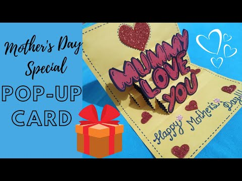    DIY Pop-Up Card For Mother's Day Using Bubble Letters    Shradz Happy Place   