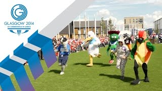 The Commonwealth Games Mascots race it out at the Village | Glasgow 2014 TV