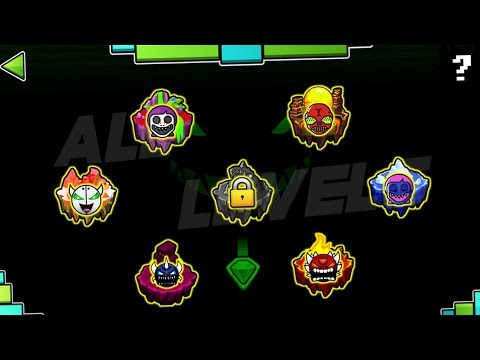 GEOMETRY DASH DARKNESS (UPDATE) - ALL LEVELS [1-7]
