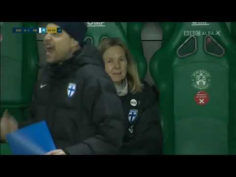 Womensfootball: Amazing Finland goal by Amanda Rantanen vs Scotland plus emotions!