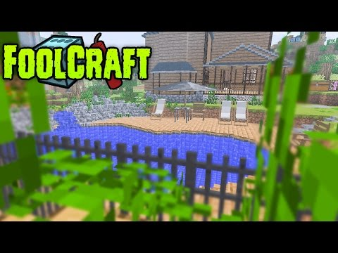 FoolCraft Modded Minecraft :: Rustic Swimming Pool!