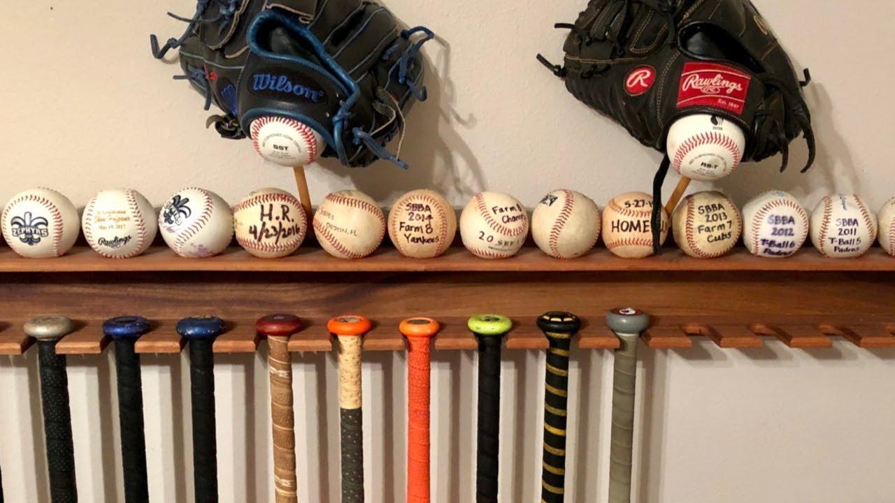 Diy Baseball Bat Holder For Wall You