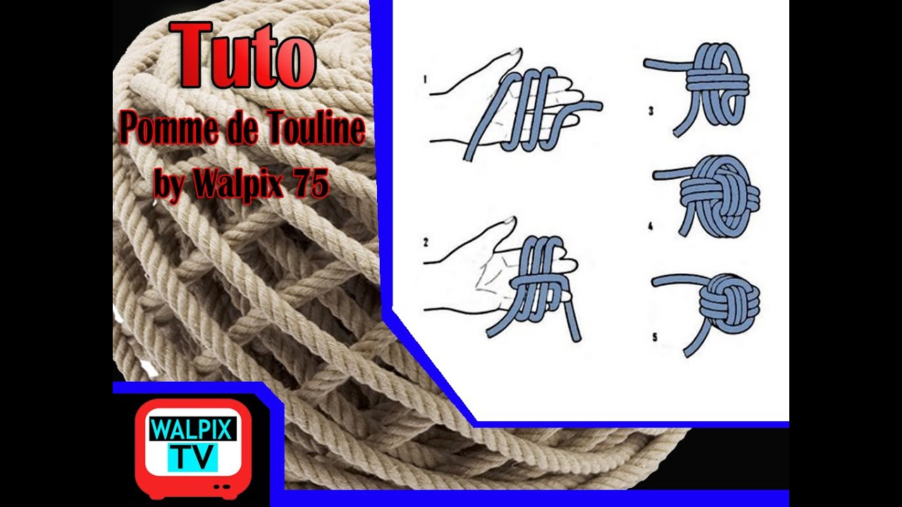 tuto comment faire une pomme de touline monkey fist par walpix youtube. Black Bedroom Furniture Sets. Home Design Ideas