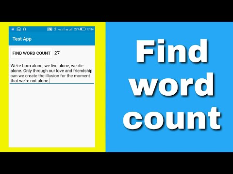Find Word Count In An TextView/EditText.