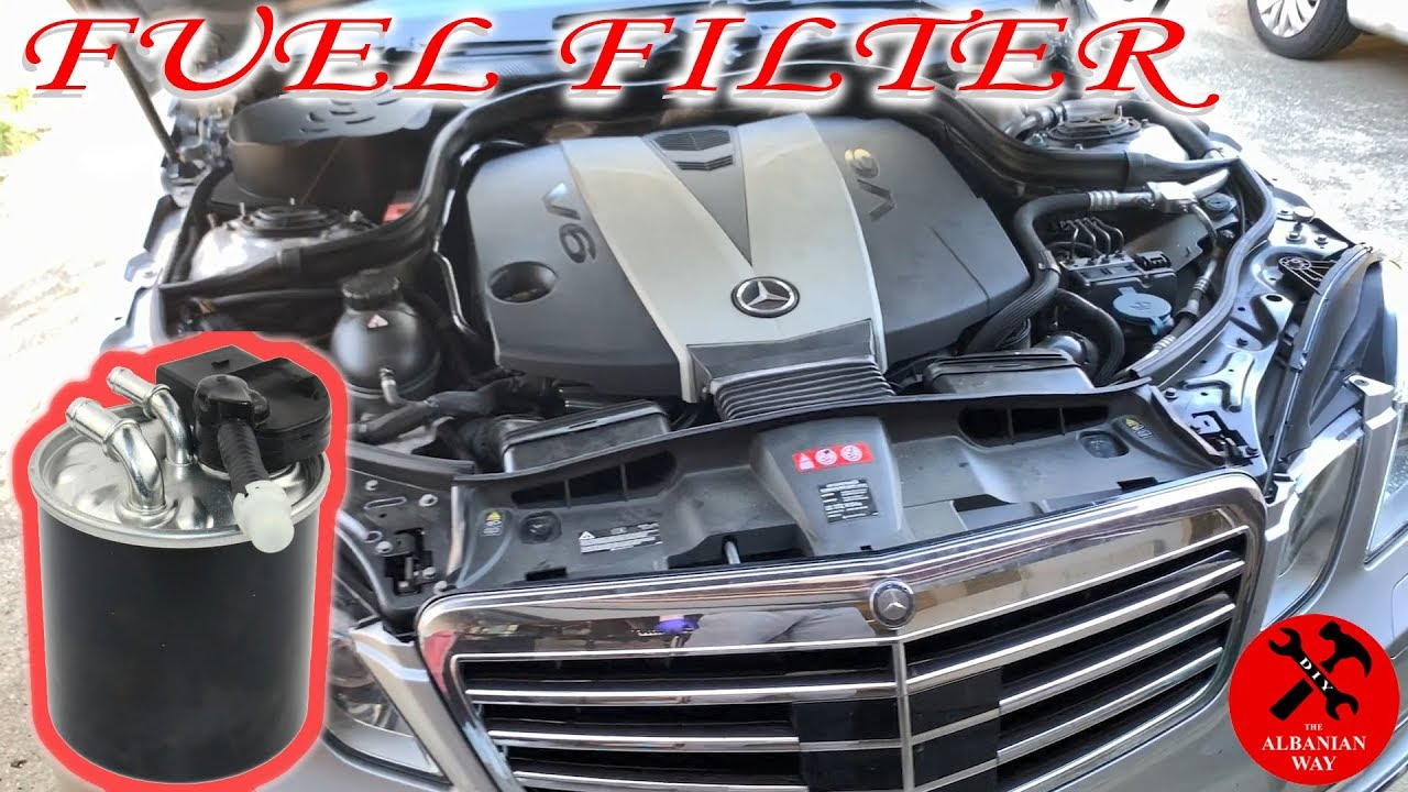 how to change fuel filter on a mercedes benz - youtube  youtube