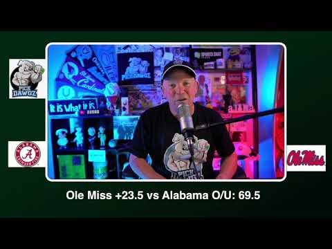 Ole Miss vs Alabama Free College Football Picks and Predictions CFB Tips Saturday 10/10/20 (skip to 18s)
