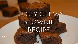 Fudgy Chewy Brownies Recipe | Nicole So