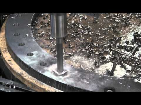 AKDRILL 1APD 2000x6000 Plate Drilling Machine - Flange Drilling Test