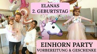 ELANAS 2. GEBURTSTAG - Einhorn Party 🦄 Sie wird so schnell groß I Sevins Wonderland