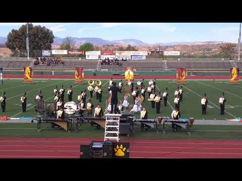 Newbury Park High School (NPHS) marching band at Moorpark Battle of the Bands 2017-11-18