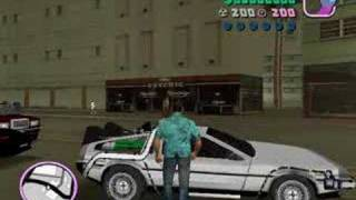 Back to the Future in GTA: Vice City