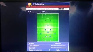 Melhor formação para o Barcelona no pes 2015