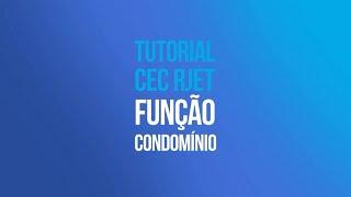 Tutorial RJET G1 - Configuração Função Condomínio