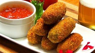 Poblano and Cheese Croquettes Recipe  Croquetas de Queso con Chile Poblano