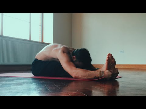restorative yoga practice for shoulders hamstrings and
