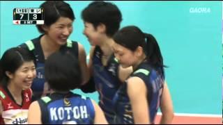 V・プレミアリーグ女子 2014/15 - ファイナル6 8-3-2015 久光製薬スプリングス vs 東レ·アローズ