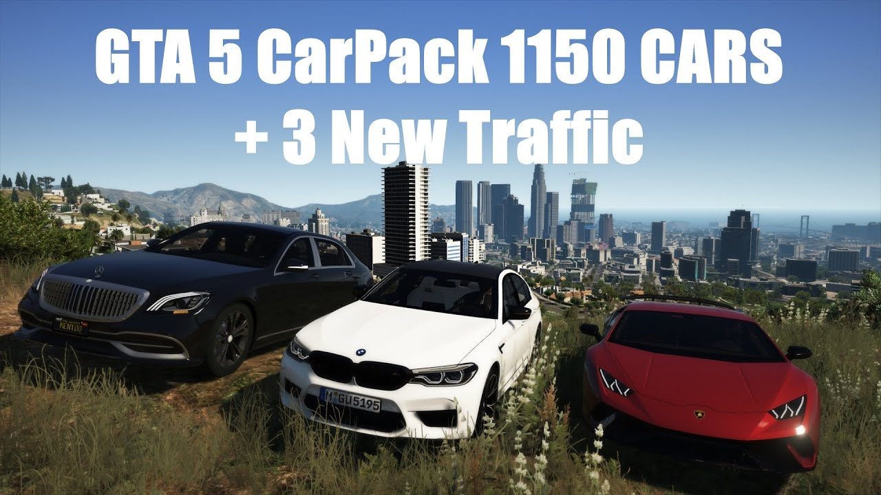 GTA 5 CarPack 1150 CARS + 3 New Traffic