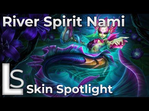 River Spirit Nami - Skin Spotlight - Fables - League of Legends - Patch 10.22.1