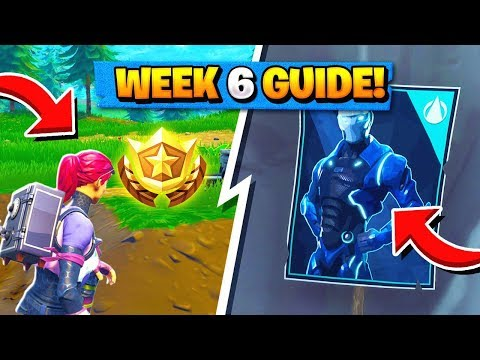 WEEK 6 CHALLENGES GUIDE! | Omega & Carbide Poster Locations, Treasure Map ( Fortnite Tips )