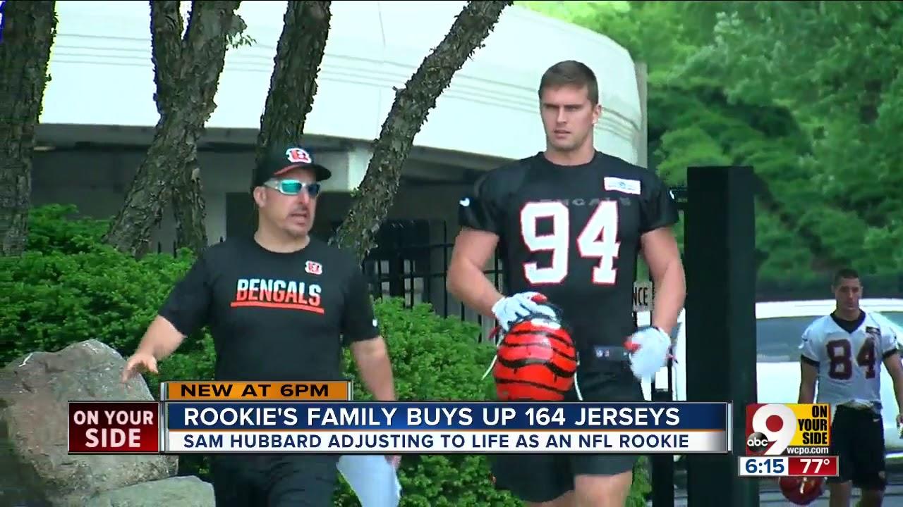 9f6fa977bf0 Rookie's family buys up 164 jerseys - YouTube