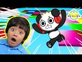 RYAN THROWS A BLOCK PARTY IN ROBLOX! Let's Play Roblox Block Party with Combo Panda